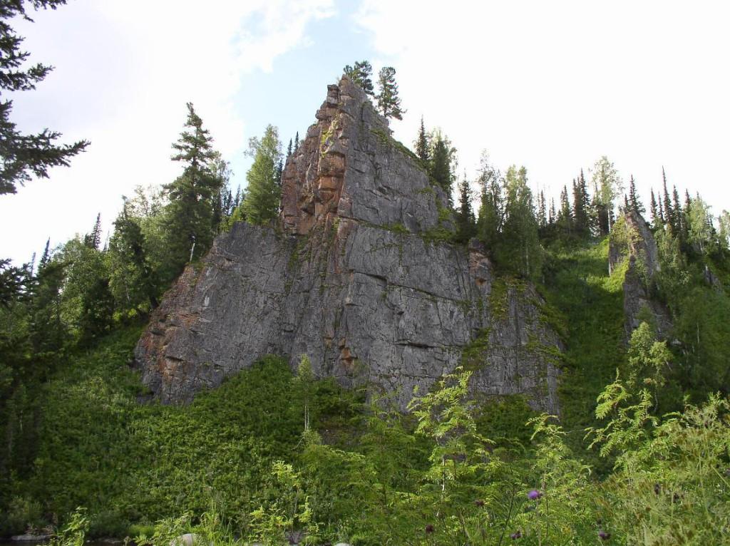 Скала Три сестры в Кузбассе