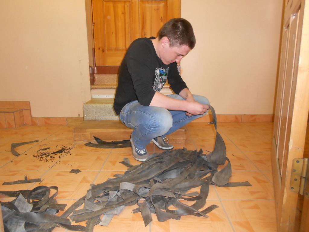 Подготовка строп для рафтинга